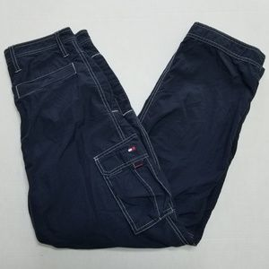 Tommy Hilfiger Cargo Pants, Navy Blue About 30x29
